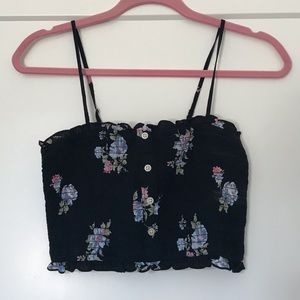 Abercrombie & Fitch Tops - Abercrombie Smocked floral Cropped Cami - small